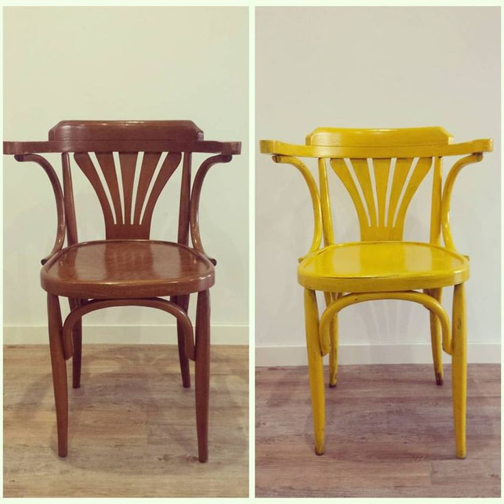 Antes y despu s de silla restaurada en amarillo remake - Muebles antiguos restaurados antes y despues ...