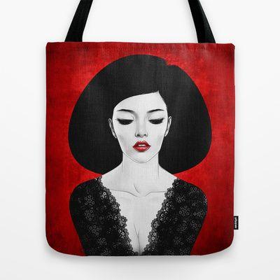 Cierra los ojos Tote Bag by Ismael Álvarez - $22.00