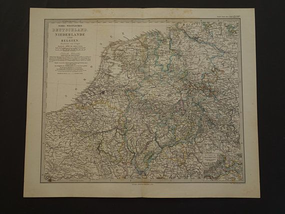 Antique map of Holland Belgium Germany  by DecorativePrints