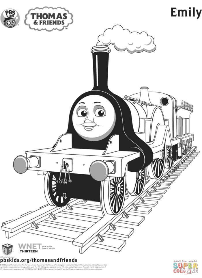 Thomas Coloring Page Emily See