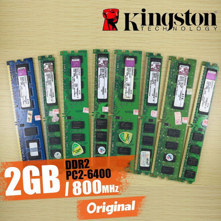 Kingston Masaüstü bellek 2 GB 2G 800 MHz PC2-6400 DDR2 PC RAM 800 6400 2G 240-pin KVR800D2N6/2G Ücretsiz kargo