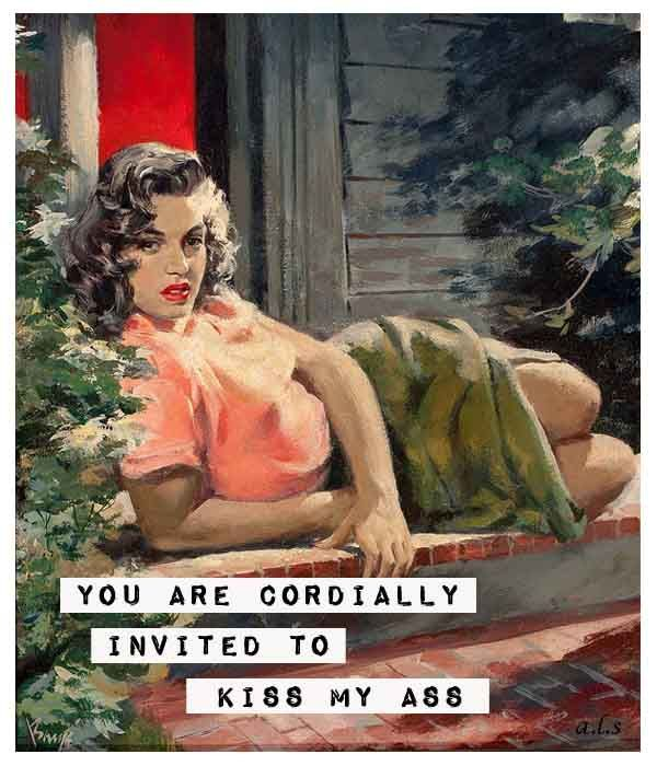 Invited #sassy #retrohumor