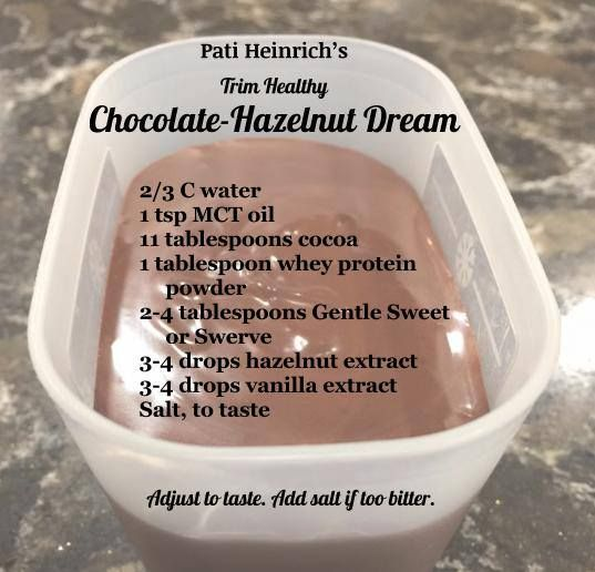 Pati Heinrich's Trim Healthy Chocolate-Hazelnut Dream (THM version of Nutella based on the THM fuel pull peanut butter recipe from their new cookbook)