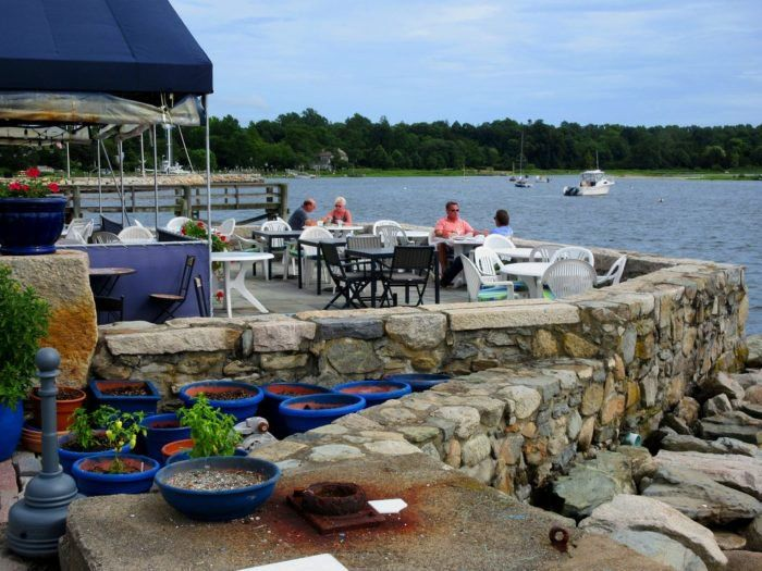 Sunsets From This Harborside Restaurant In Rhode Island Are As Amazing As The Food Waterfront Dining Rhode Island Travel Rhode Island