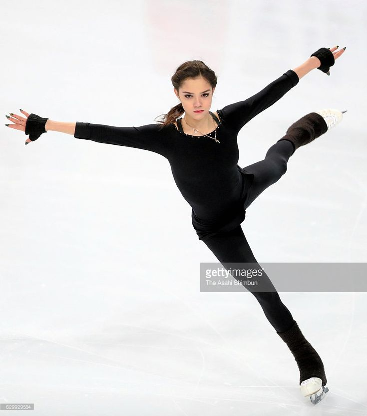 News Photo : Evgenia Medvedeva of Russia in action during a...