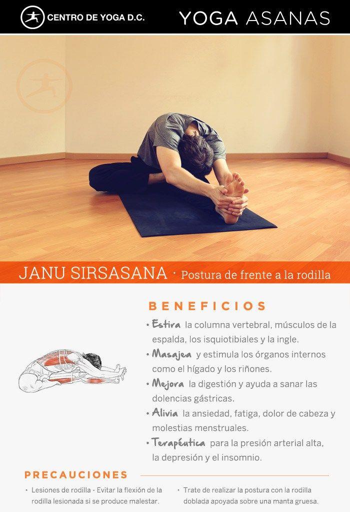 Beneficios de la práctica de Yoga · JANU SIRSASANA | Postura de frente a la rodilla por Diego Cano