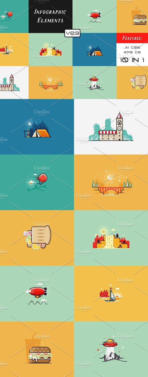 Infographic Elements (v23) by Infographic Paradise on @creativemarket