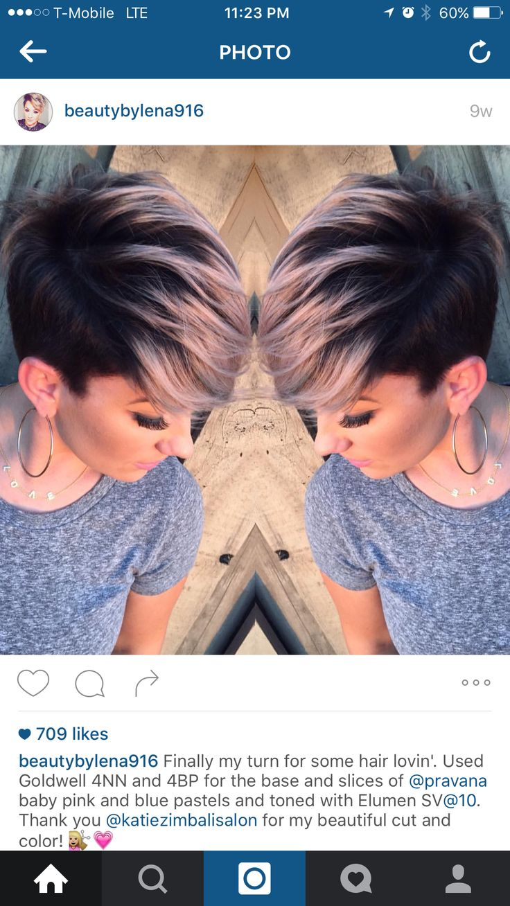 This, this is how I want to dye my hair! I'll try it tomorrow, I'm too scared to go back to titanium just yet!