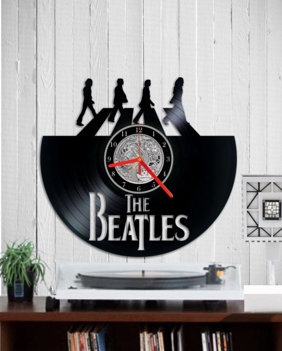 The Beatles Wall clock record vinyl clock  Abbey by Indigovento