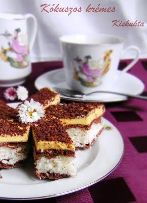 Kókuszos Krémes, Hungary   coconut cream slices