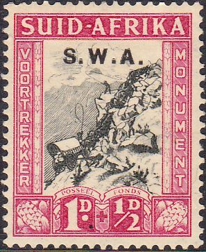 South West Africa 1935 Voortrekker Memorial Afrikanns SG 93 Fine Mint SG 93 Scott B2 Other British Commonwealth stamps for sale here