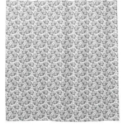 Emperor Angelfish Gray Shower Curtain - shower curtains home decor custom idea personalize bathroom