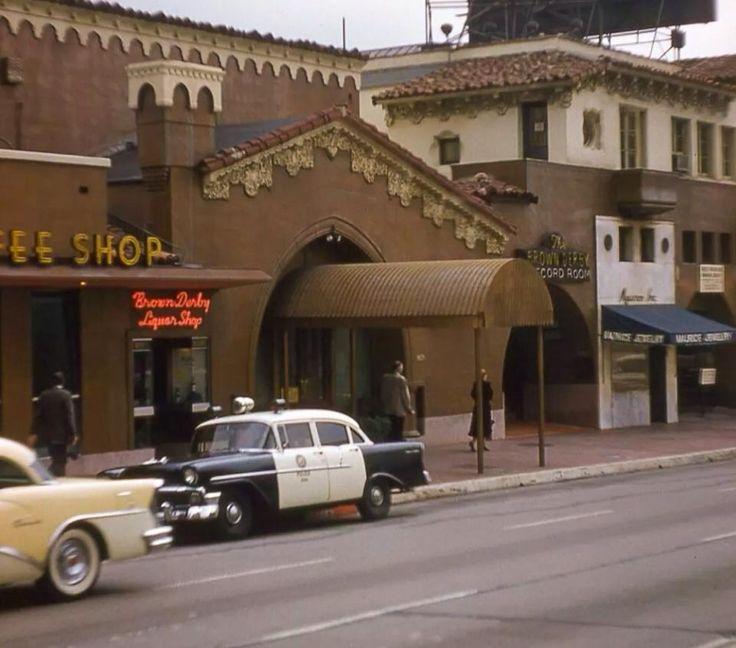 Brown Derby Restaurant, Vine St. Hollywood mid 1950s The