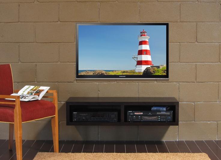wall mount tv stand mayan espresso