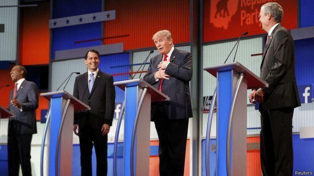 La noche en que Donald Trump dio un susto al partido republicano - BBC Mundo