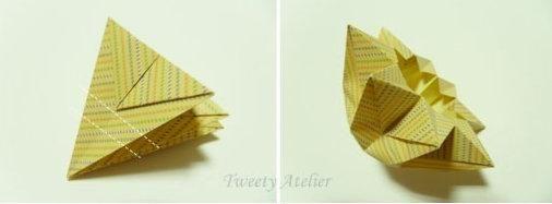 Оригами - схема сборки восьмиконечной звезды