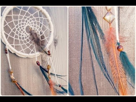 ▶ Make a Dreamcatcher: Crochet, Feathers, and Beads - YouTube