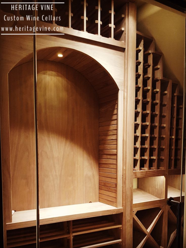 Wine cellar under the stairs! Designed, fabricated and installed by Heritage Vine Custom Wine Cellars