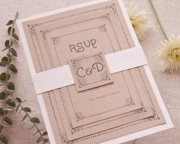 Invitation Wedding Rustic