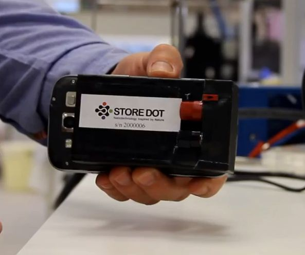 Battery Tech StoreDot, Aims to Charge Your Phone in 30 Seconds.