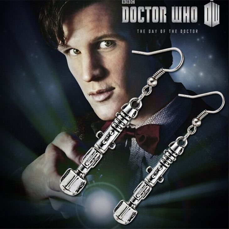 dr doctor who earrings sonic screwdriver drop earrings vintage jewelry for women wholesale