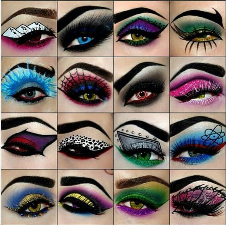 Beautiful artsy superhero makeup Makeup ideas/nail junk