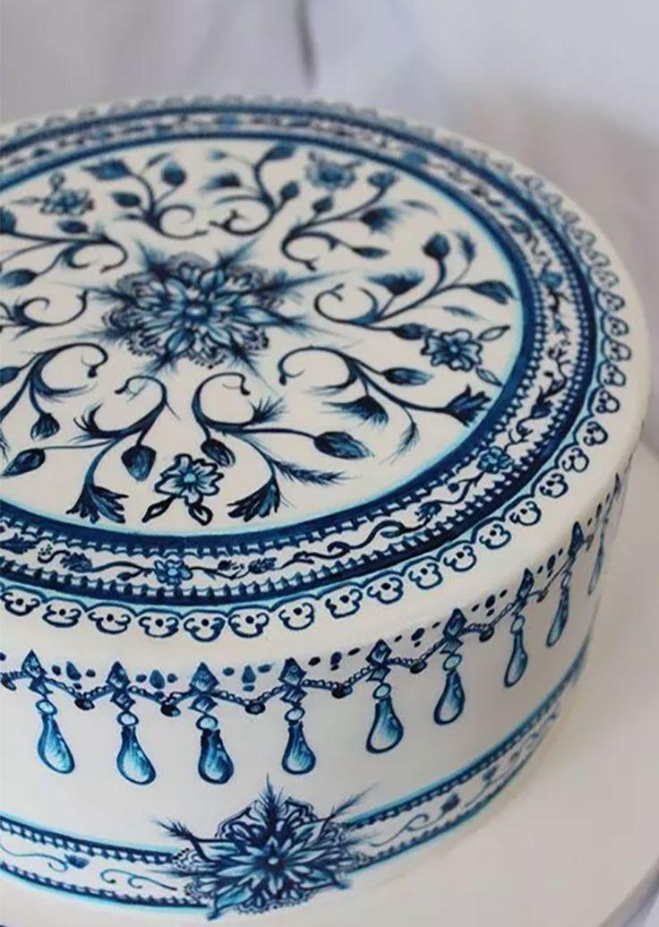 cómo decorar pasteles pintados a mano, Cakes Decor