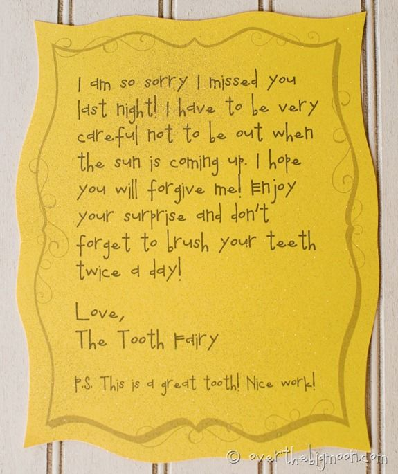 Forgetful tooth fairy. Ours has forgotten at least twice!