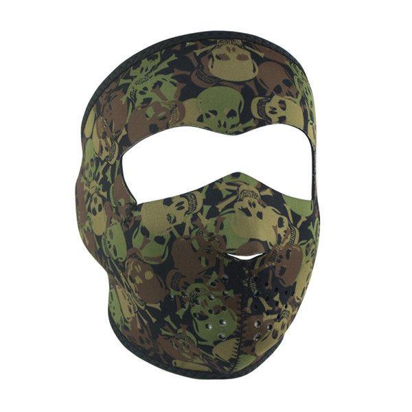 All Over Skull Camo Neoprene Face Mask