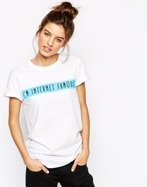Adolescent Clothing Boyfriend T-Shirt With Internet Famous Slogan