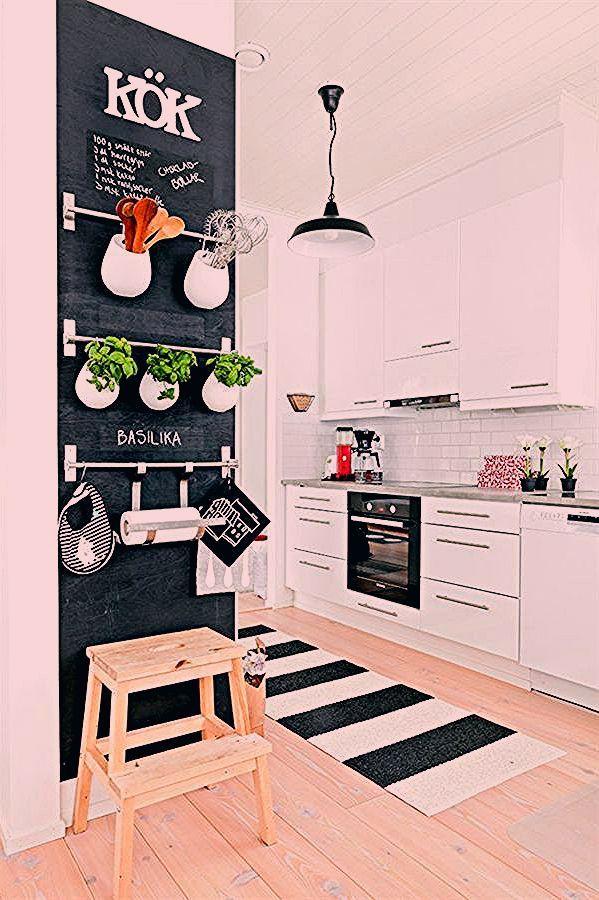 Ideen Zur Wandgestaltung Kuche Krautergarten Kuchenutensilen Kuchenzubehor In 2020 Scandinavian Kitchen Design Kitchen Decor Herb Garden In Kitchen