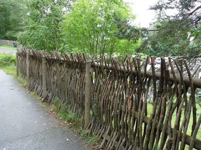 The green garden gate natural norwegian fences gardens pinterest gardens green garden - Green fencing ideas ...