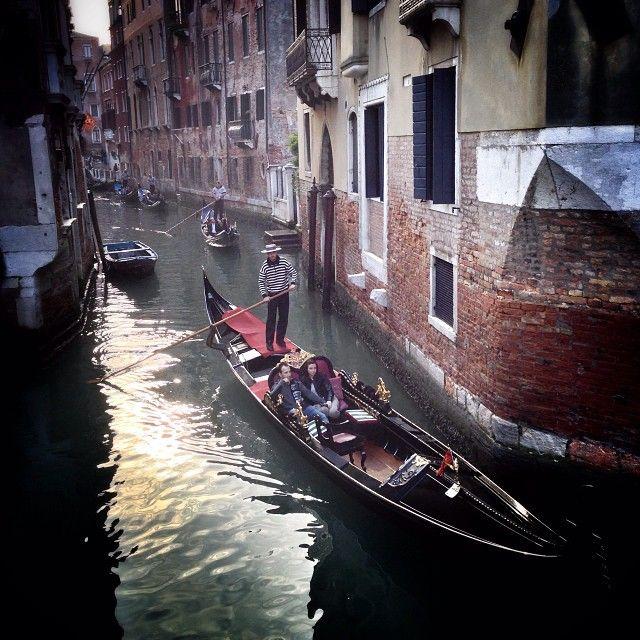 The obligatory gondola shot (at Venezia)