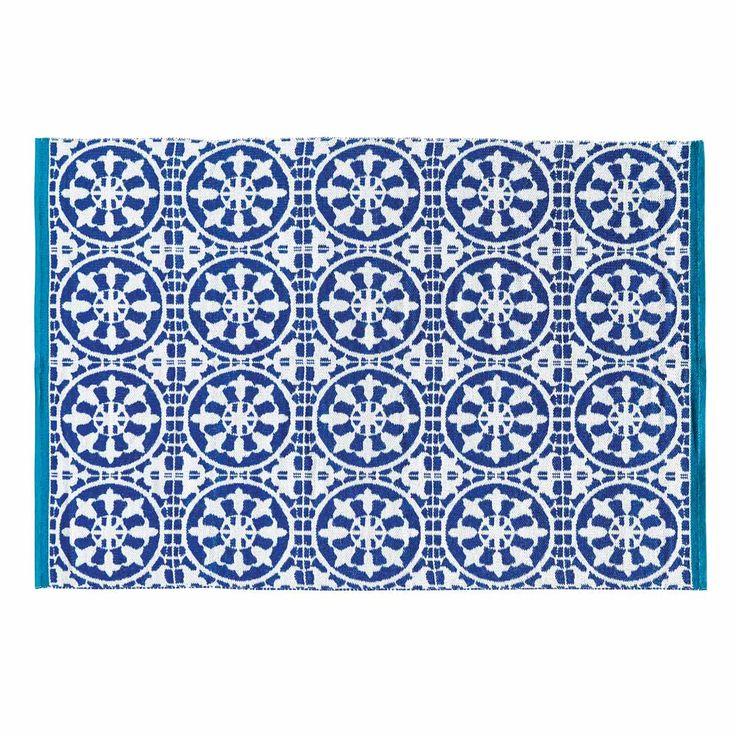 SANTORINI blue and white outdoor rug140 x 200 cm