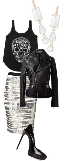 Fashion Friday goes rocker chic … add some HarpersLove gemstone earrings for a total glam and casual fun look tonight.