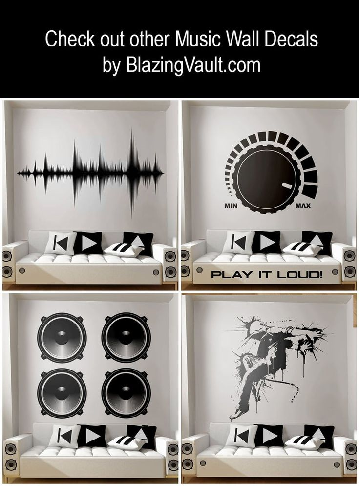Mixing Console Sliders Wall Decal Red Recording Studio