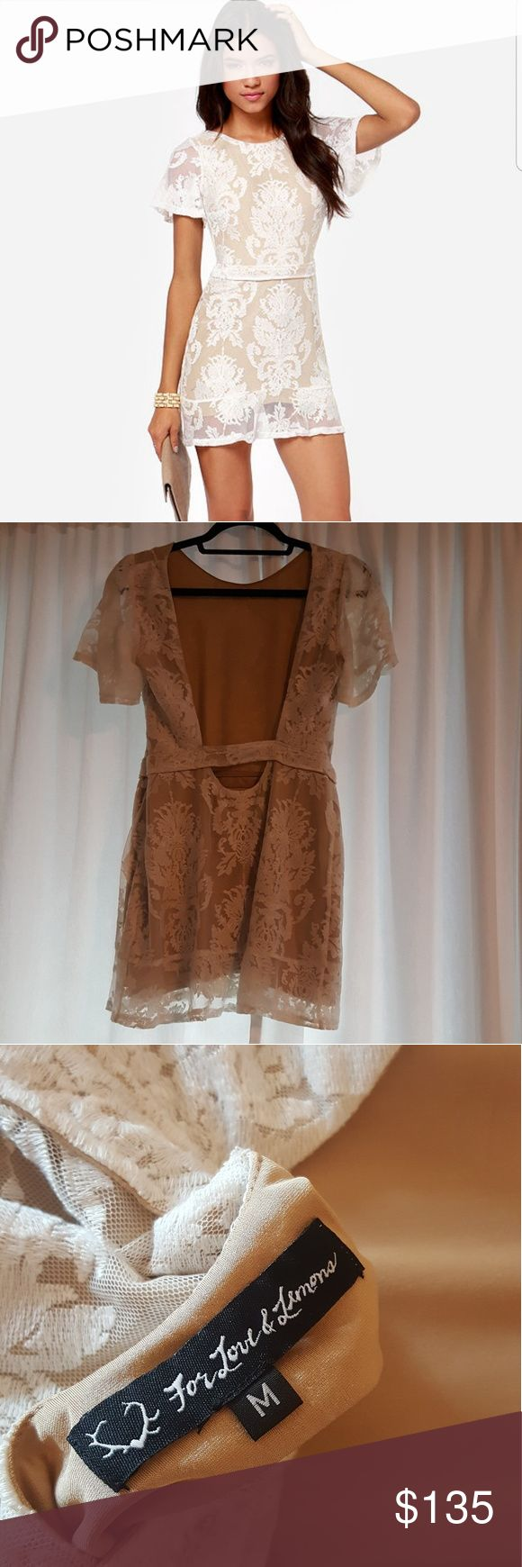 For Love and Lemons San Marocs Lace Dress. Beautiful Lace Dress by For Love and Lemons. Would make an amazing dress for any occasion. The back is so beautiful on! Make me an Offer! For Love And Lemons Dresses Mini