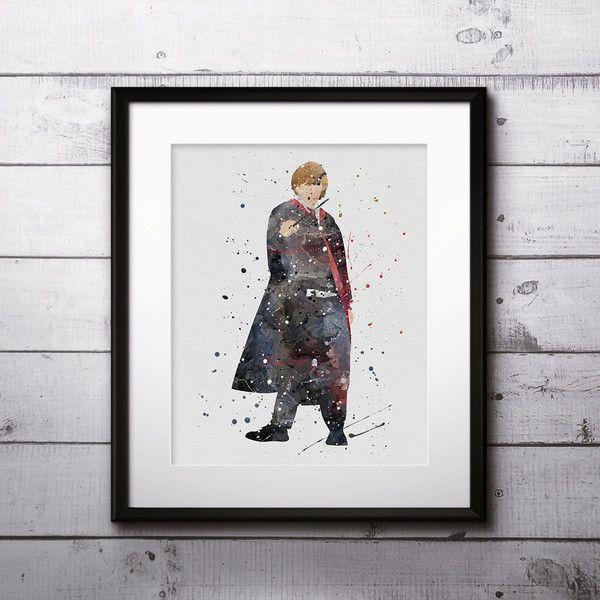 Wall Art – Ronald Weasley Harry Potter Print Watercolor Art – a unique product by DigitalAquamarine on DaWanda