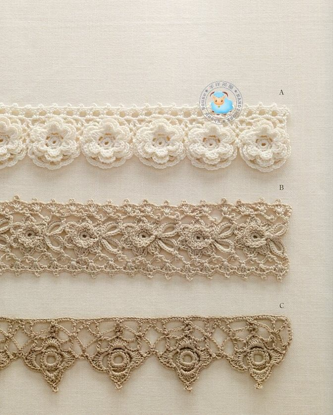 Irish crochet edging