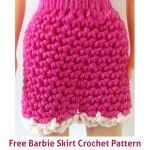 Doll Skirt Free Crochet Pattern