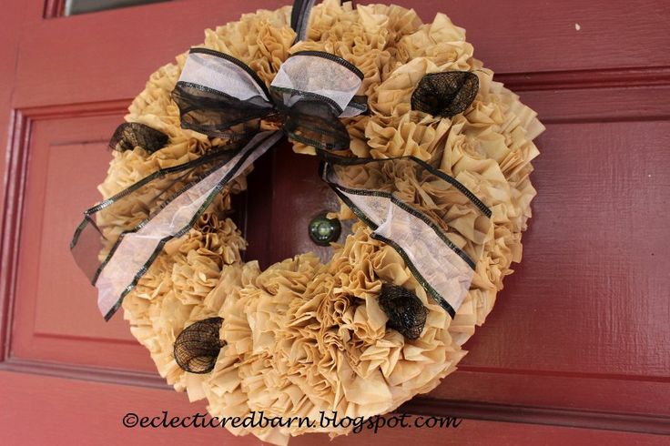 We've seen coffee filter wreaths before, but this is so simple and chic!