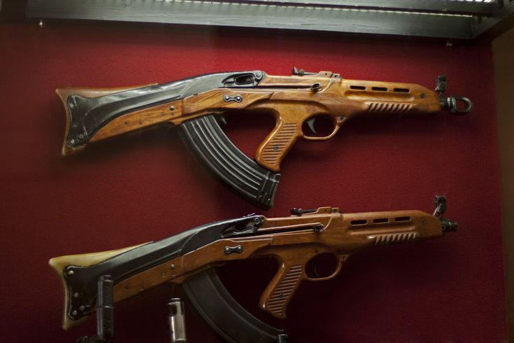 militaryarmament:A pair of Soviet TKB-011 assault rifles.:
