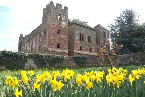 Acton Burnell Castle in Shropshire, England, remains of a fortified manor house built in the 13th century by Robert Burnell, Chancellor of England and close friend of King Edward I. The King was a regular visitor and it is said that he convened one of the first English Parliaments here in 1263
