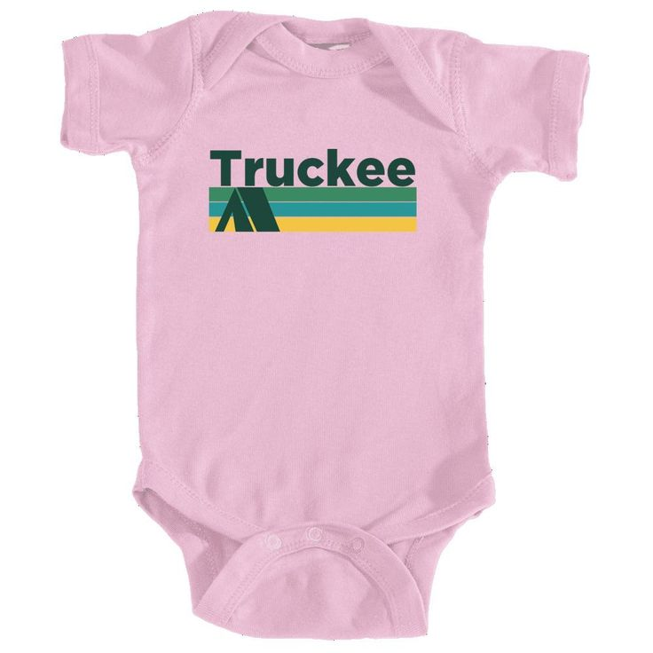 Truckee Retro Camping - California Infant Onesie/Bodysuit