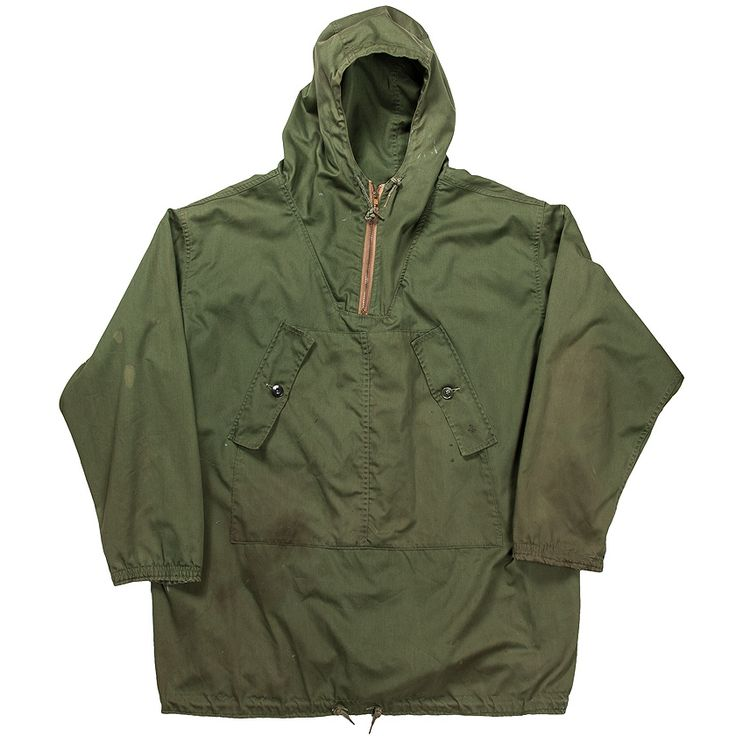 L.L. Bean Men's Labrador Anorak Jacket in Olive Green | 1960s