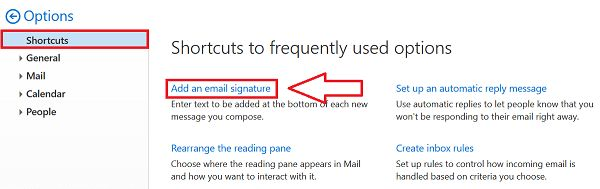 Create a Signature in Outlook