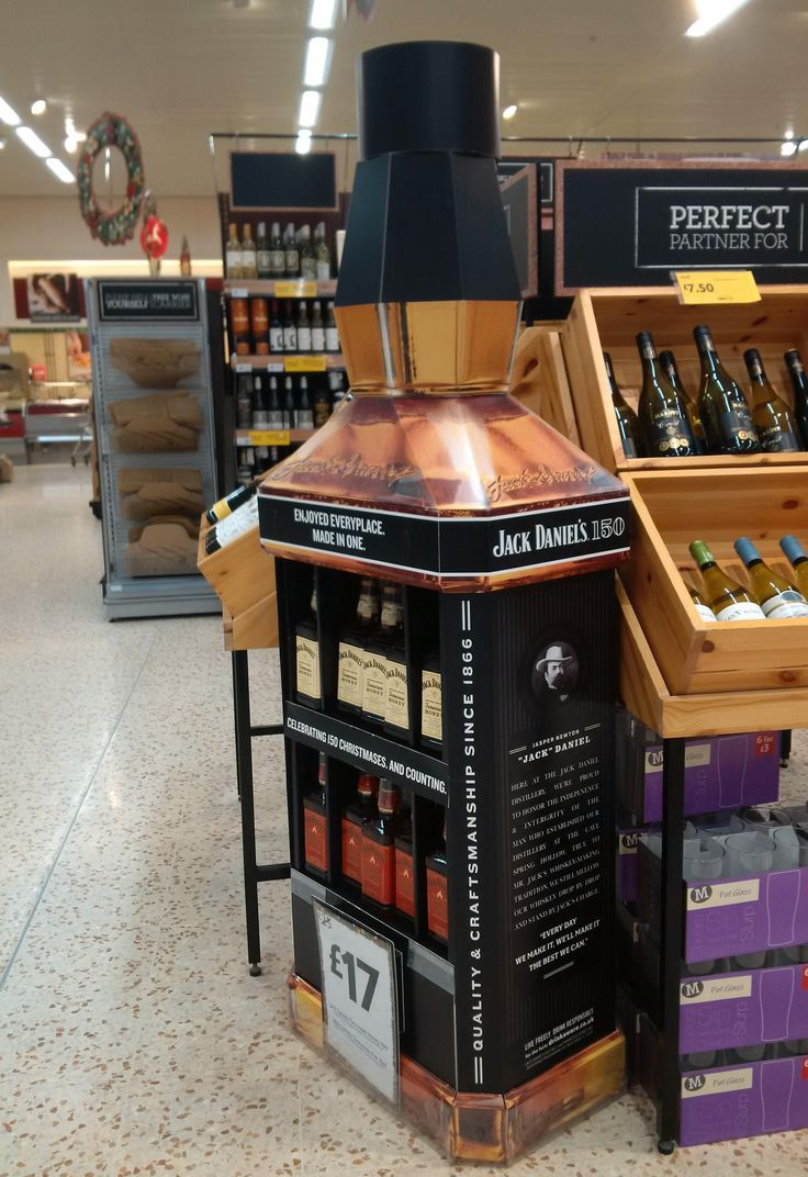 Temporary POS Design - POS Design - 3D Design - Cardboard Display Unit - FSDU Design - Jack Daniels