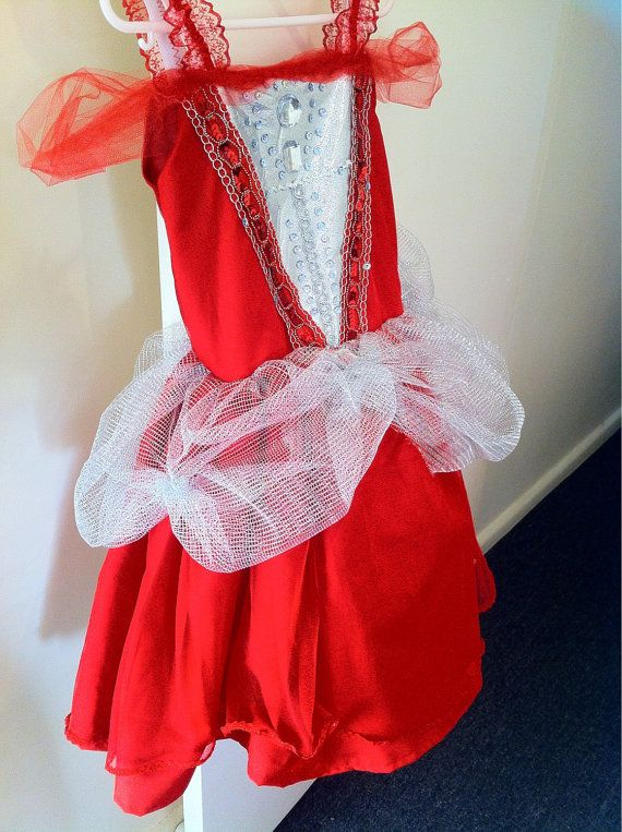 Beautiful princess queen dress ruby red dress up 35 by MadeByBecky, $60.00