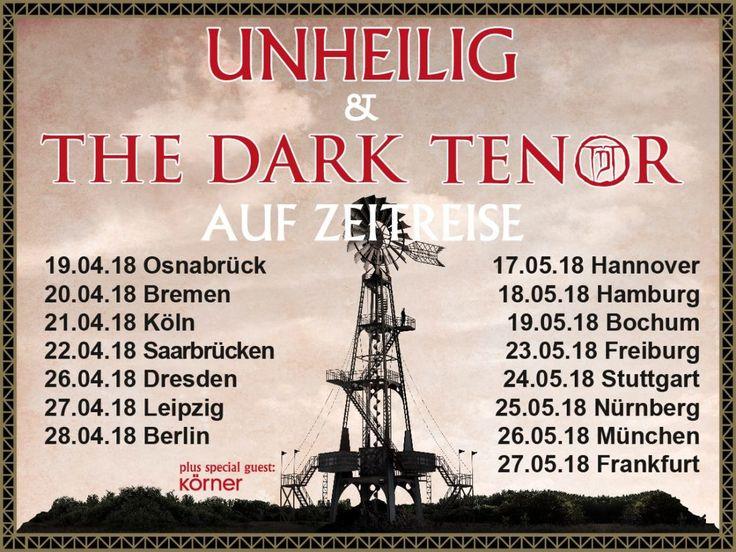 Unheilig Band zusammen mit The Dark Tenor auf Tour