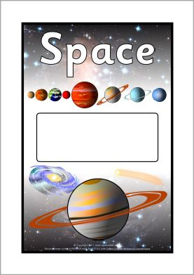 Ned. versie!!! Space editable topic book covers (SB6968) - SparkleBox